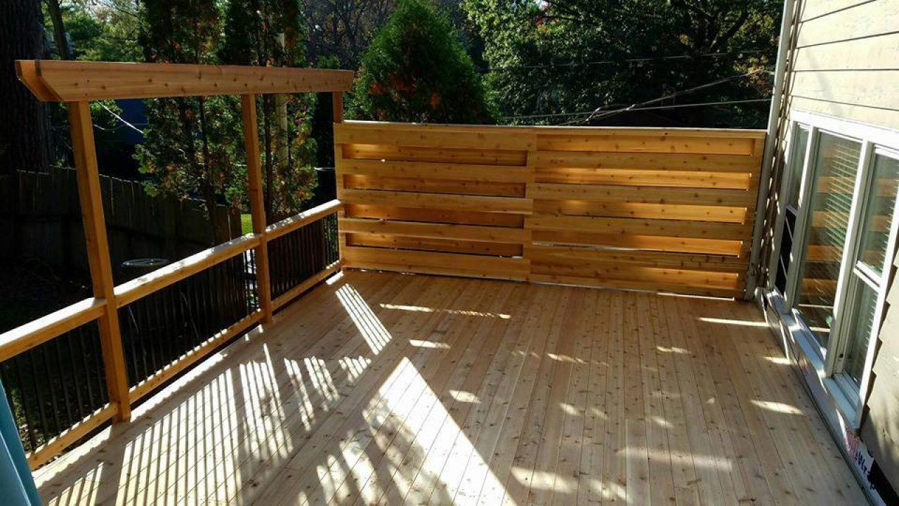 Cool Deck With Gutter Running Through Steps