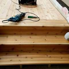 Deck Stairs Gutter 5