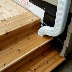 Deck Stairs Gutter 8