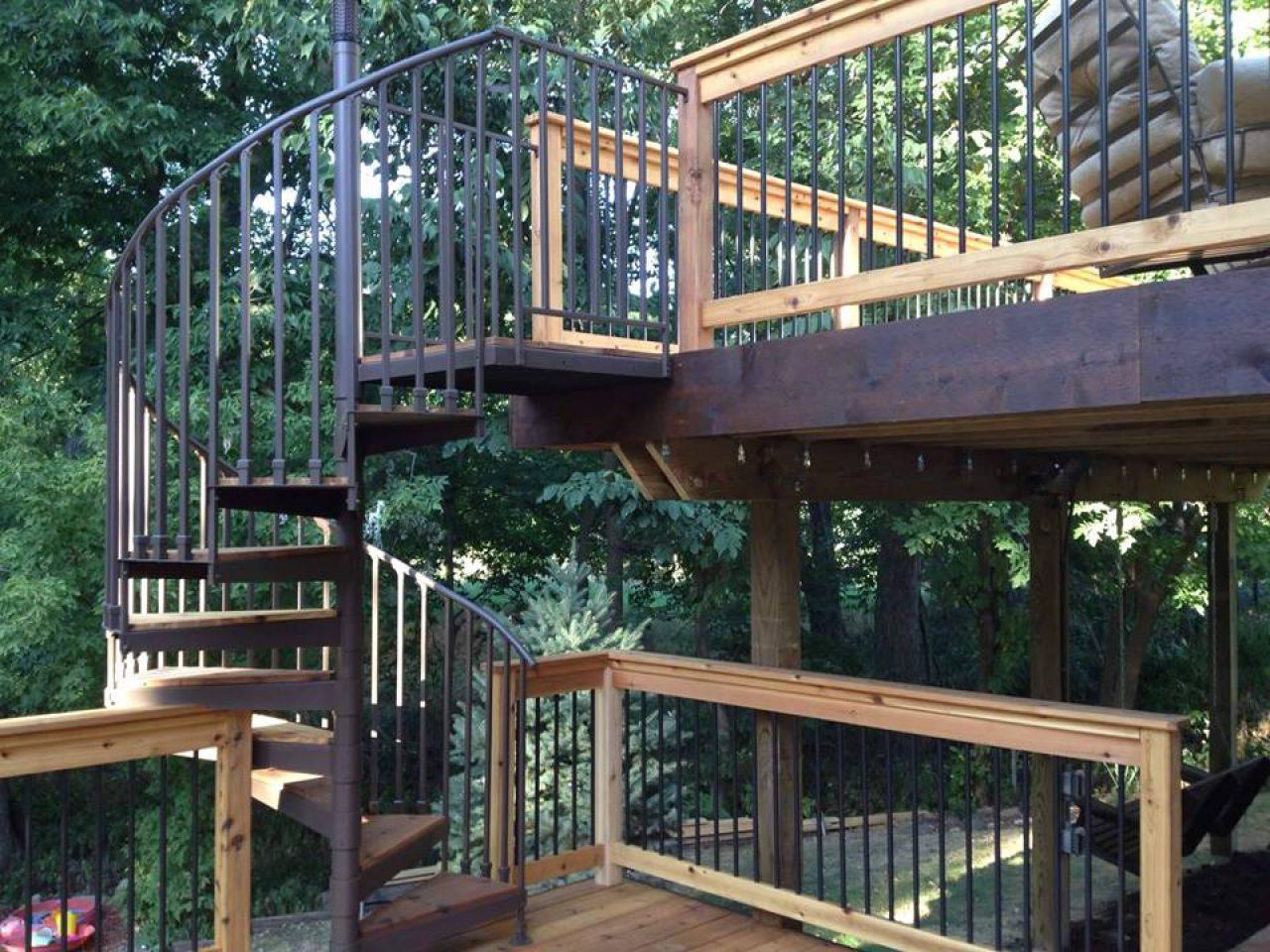 Genial Deck Spiral Staircase 1 Deck Spiral Staircase 2 ...