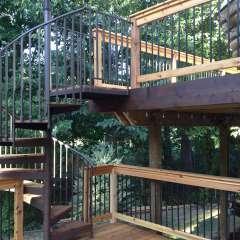 Deck Spiral Staircase 2